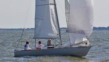 J/22 one-design sailboat- sailing on Galveston Bay at JFest