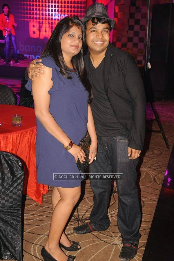 Sneha and Alok Khemka during birthday party, held at Hotel Centre Point, in Nagpur.