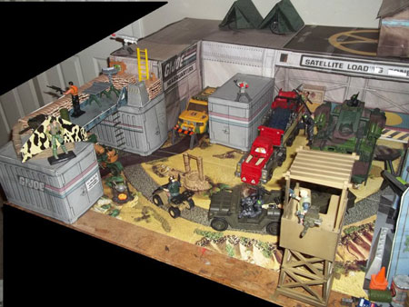 GI Joe Papercraft Dioramas