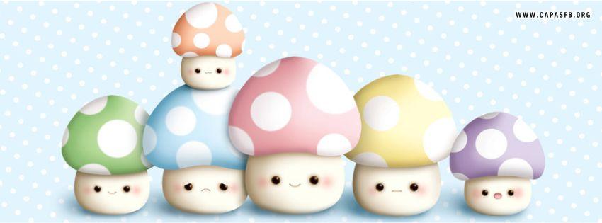 Capas para Facebook Cogumelos