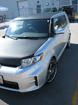 2010 Scion - Carbon Fibre hood and matte black roof