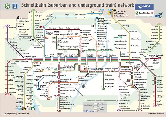 Munich Transportation Map