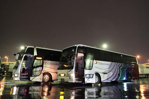 名鉄バス「不知火号」 2912&2607 桂川PAにて
