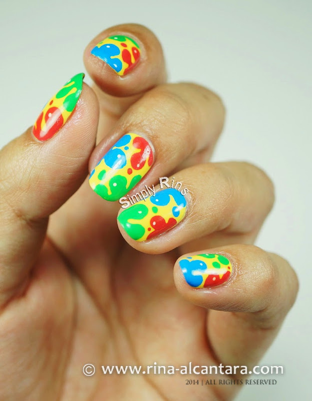 Nail Art: Splash of Colors by Simply Rins