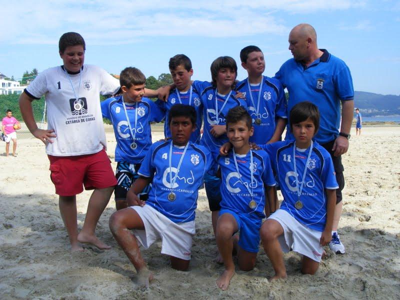 Torneo Fútbol Playa Ares 2012. Xuventude Subcampeón Alevín.