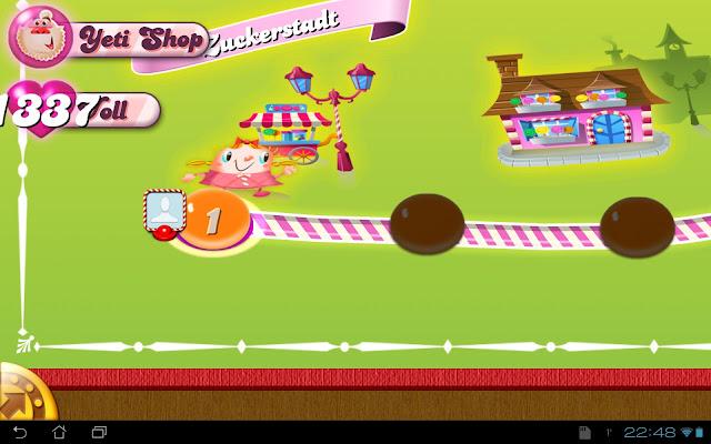 Das Ergebnis: Viele Leben in Candy Crush