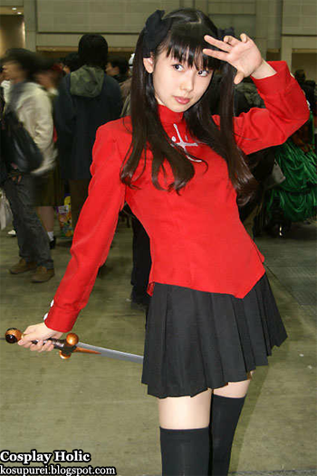 fate/stay night cosplay - tohsaka rin 3 by minato misa