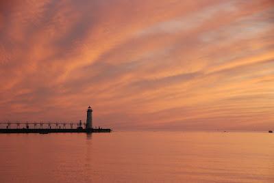 sunset, Lake Michigan