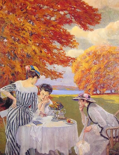Edward Cucuel - Tea in the Park