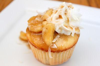 Island Bananas Foster Cupcakes