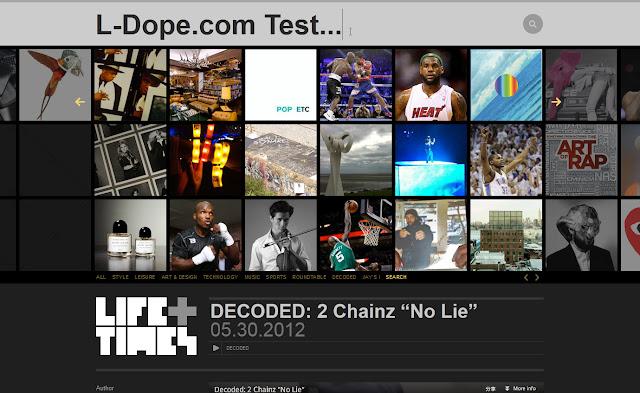 *馬賽克牆風格的歌手官網|Jay-Z Web Site 3