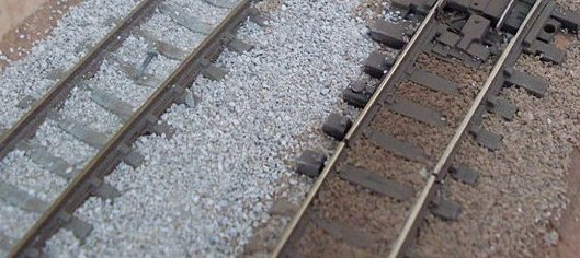 The Best Ballasted Peco Code 55 I Could Find On Internet Was From Harrys Peterborough Layout And Apparently This Is Chinchilla Sand Raw Left