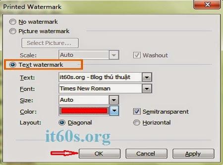 Cách đóng dấu bản quyền văn bản trên Word 2013 6