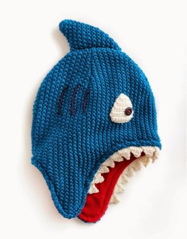 Finn Shark Hat by Joules