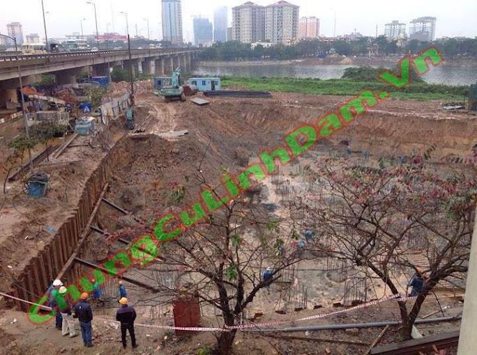 Tiến độ thi công Chung cư Vp6 Linh Đàm ngày 25/03/2014
