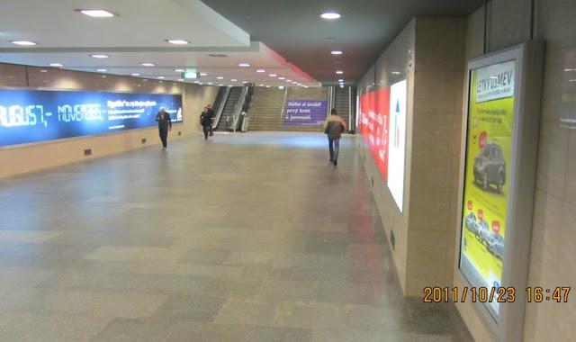 Bratislava的地下道竟然有電扶梯,何時臺北市的普通地下道也可以變成這樣呢?