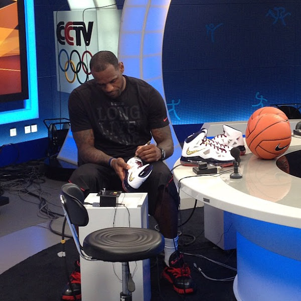 King James wears LeBron X and Ambassador V on his tour in China
