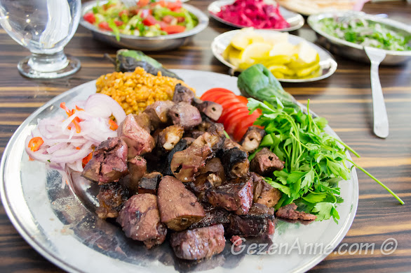 ciğer (cartlak) kebabı, Gaziantep