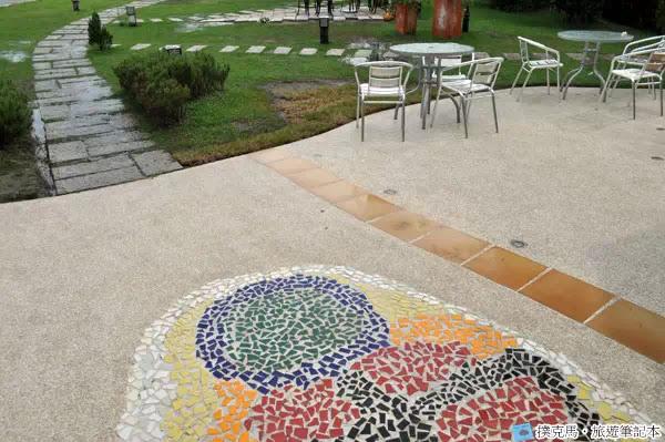 富林園洋菓子地板的圖案