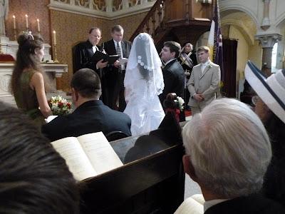 Die Trauung fand in der Lutherkirche statt