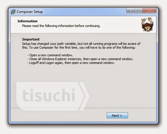 Install composer in Windows - tisuchi.com