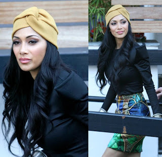 Nicole wearing a turban