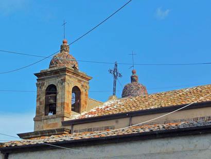 Glockenturm der Wallfahrtskirche Madonna di Tagliavia