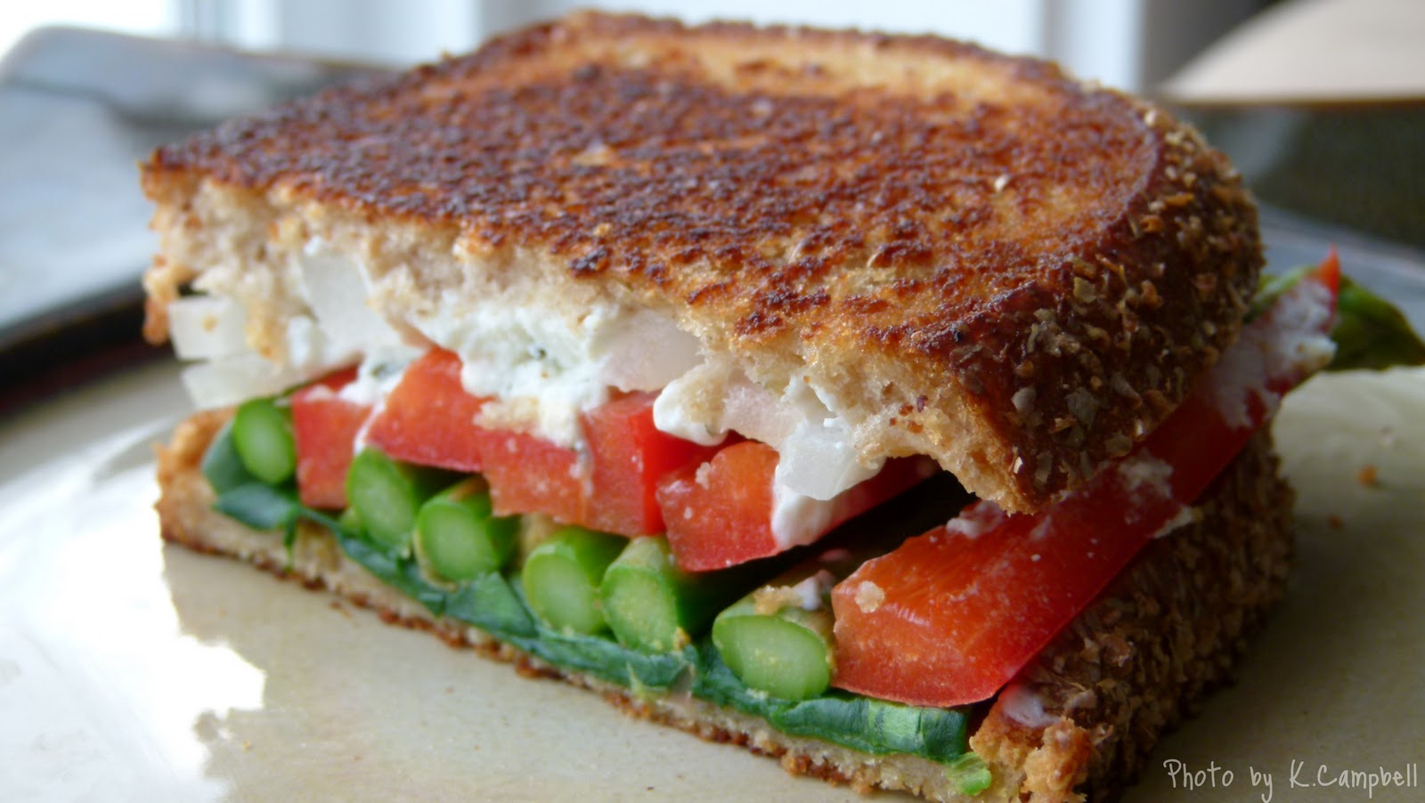 Oscar's Sandwich: Grilled Goat Cheese and Veggie Sandwich
