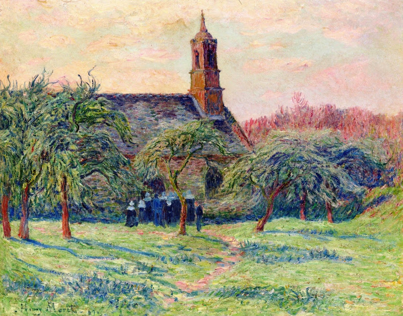 Henry Moret - Church in Clohars, Pont-Aven