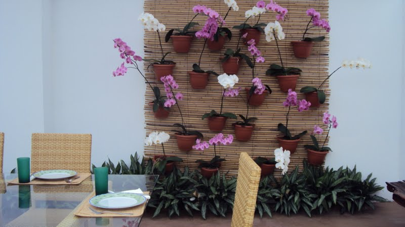 cerca para jardim vertical:Cerca de bambú você dá um charme ao seu jardim e pode pendurar