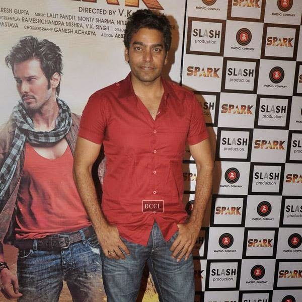 Ashutosh Rana during the trailer launch of Bollywood movie Spark, held at PVR in Mumbai, on July 21, 2014.(Pic: Viral Bhayani)