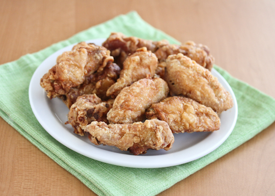 photo of wings piled on a plate