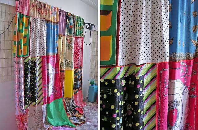 Decoro sin decoro una cortina reciclada - Cortinas originales para cocina ...