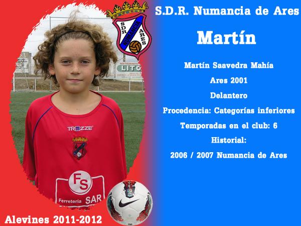 ADR Numancia de Ares. Alevíns 2011-2012. MARTIN.