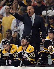 Bruins coach Claude Julien yelling at the refs