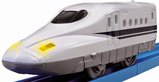 Tàu hỏa có đèn Shinkansen N700 đầu thuôn nhọn, đẹp mắt