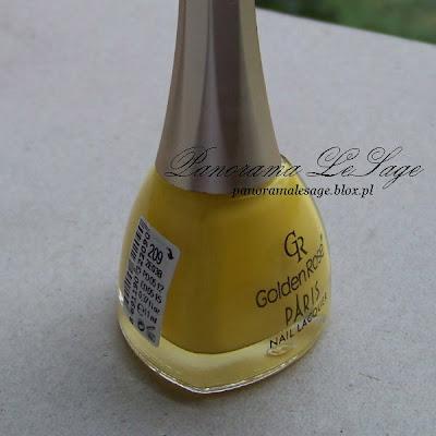 golden rose paris lakier do paznokci żółty numer 209