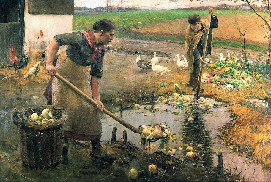 Evariste Carpentier - Washing Turnips
