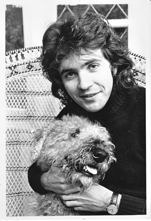 David Essex and a dog