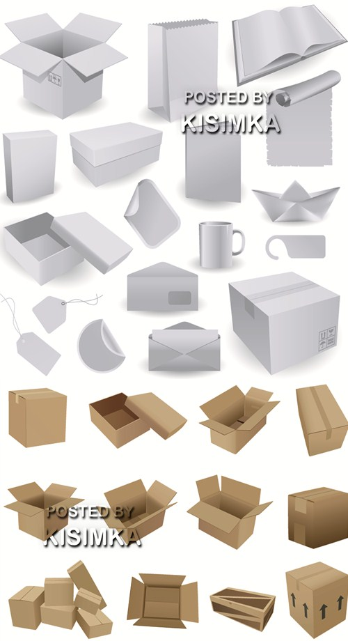 Boxes for packing and subjects from a paper and a cardboard