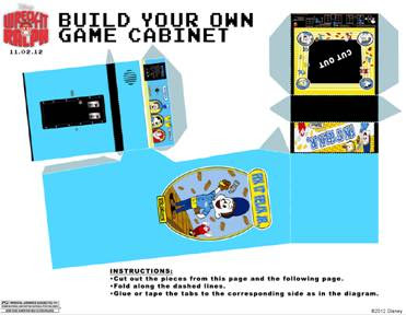 "Arcade Game Cabinet ""Fit It Felix Jr."" craft instructions"