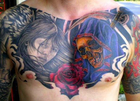 50 Very Best And Awesome Chest Tattoos For Males