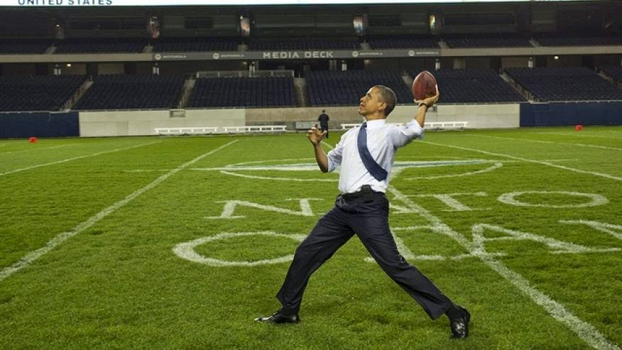 Obama prefers football to hanging with other world leaders
