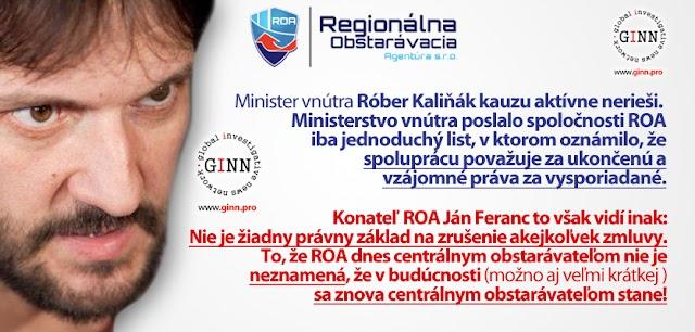 Robert Kalinak kauzu ROA / Plachtince neriesi