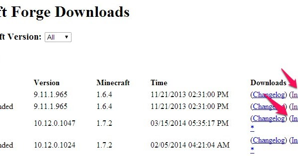 minecraft forge server install mods