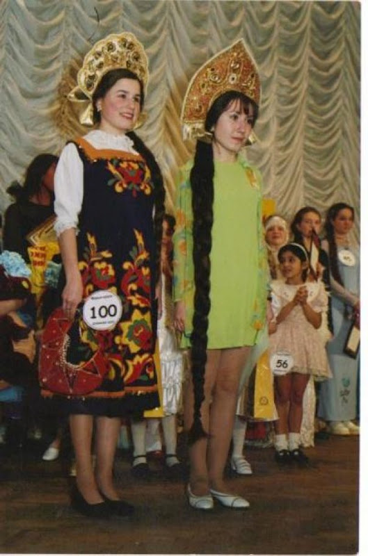 long hair contest in russia