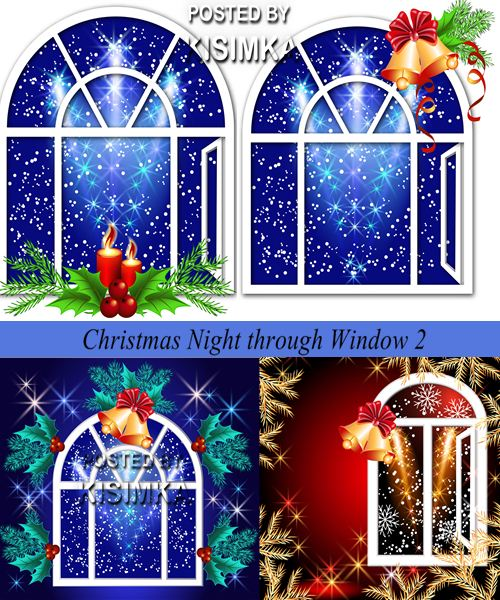 Stock: Christmas Night through Window 2