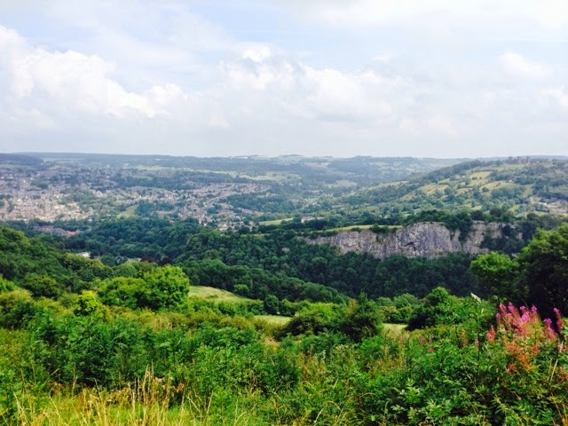 The view atop The Heights of Abraham, Matlock