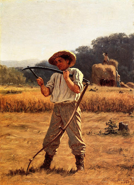 Eastman Johnson - Man with Scythe