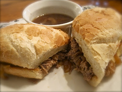 These French Dip Sandwiches are absolutely the best; and because you make them in a crock pot or slow cooker, they are super easy to make. #crockpot #sandwich #beef #easyrecipe